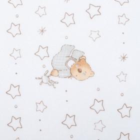 Фланель Спящий мишка 160 г/м2, ш. 150 см, дл. 10 м, 100% хлопок Ош