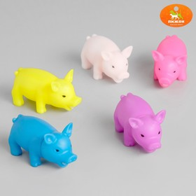 """Toy squeaking """"Little pig"""", 9 cm, mix colors"""
