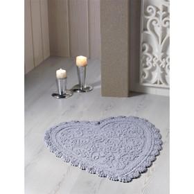 Коврик для ванной кружевной Sisley, размер 60х65 см, цвет серый