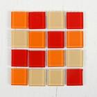 Мозаика стеклянная на клеевой основе №23, цвет оттенки красного