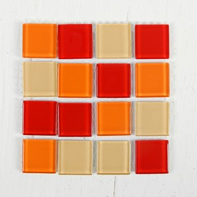 Glass mosaic adhesive No. 23 color shades of red