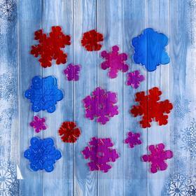 "The sticker on the glass ""Snowflake platter"" 24*24 cm, set of 15 PCs"