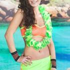 """Гавайское ожерелье """"Лиана"""", цвет салатовый"""