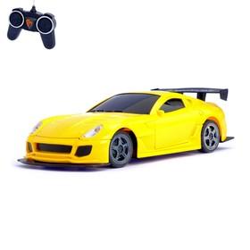 Машина радиоуправляемая «Спорткар», открываются двери и капот, 1:22, работает от батареек, МИКС