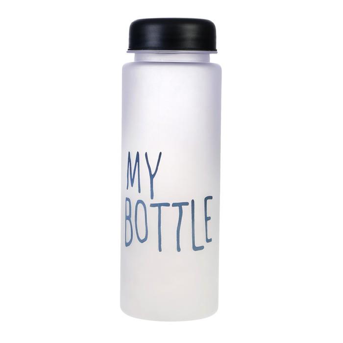 """Бутылка для воды """"My bottle"""", 500 мл. градиент, чёрная, 6.5х6.5х19 см"""
