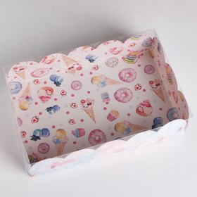 """Gift box with PVC cover """"Goodies"""", 20 × 30 × 8 cm"""