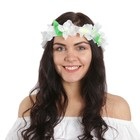 A wreath on the head of Magnolia, white