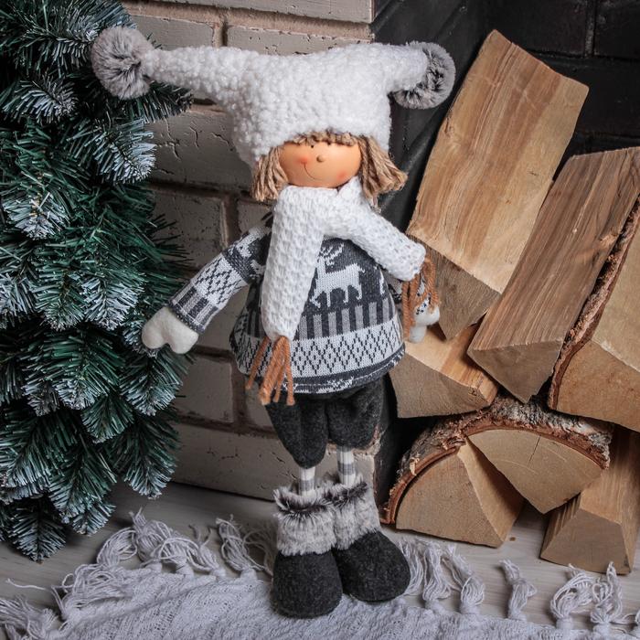 """Кукла интерьерная """"Мальчик в кофточке"""" 38 см"""