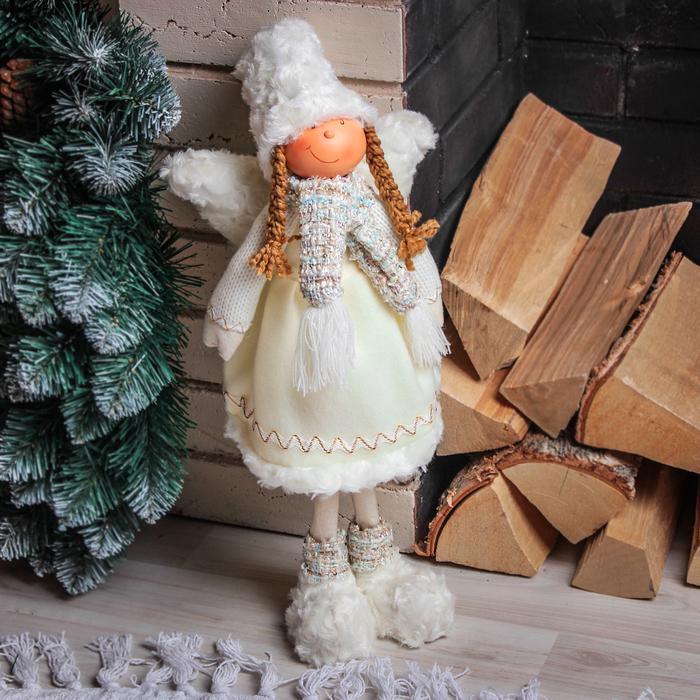 """Кукла интерьерная """"Девочка-ангелочек в белых ботах"""" 56 см"""