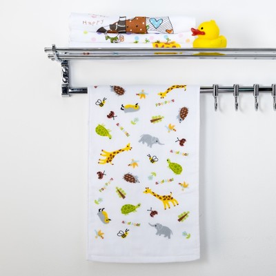 "Towel double-sided Baby I ""Zoo"" 25 x 50 cm 100% cotton"