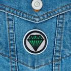 Термоаппликация «Кристалл», d = 4 см, цвет зелёный