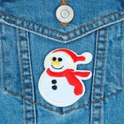 Термоаппликация «Снеговик», 6 х 5 см, цвет белый