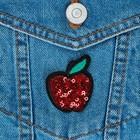 Термоаппликация «Яблоко», 4,5 × 3,5 см, цвет красный