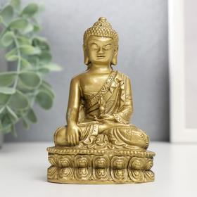 "Нэцке полистоун бронза ""Будда на медитации"" 12,1х7,5х5,7 см"