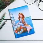 Обложка на паспорт «Крым» (Ласточкино гнездо, русалка). 9,5 х 14 см