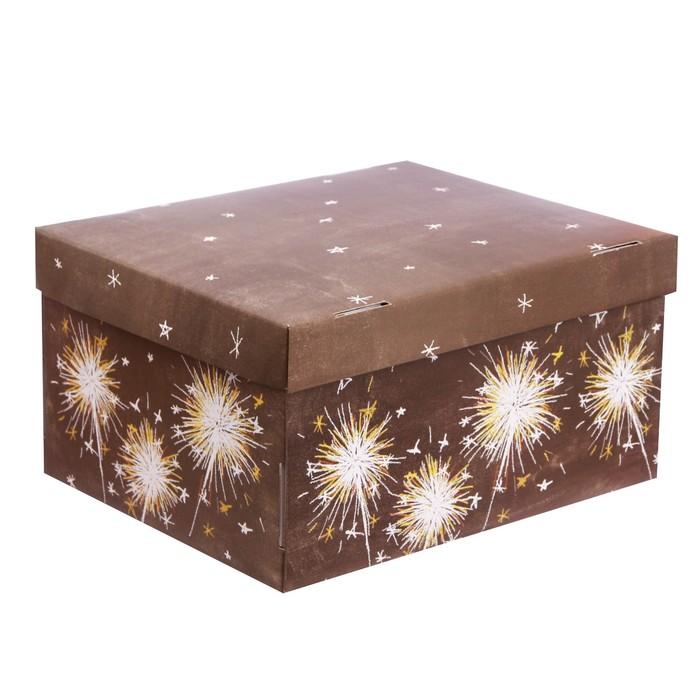 Складная коробка «Огни большого праздника», 31,2 х 25,6 х 16,1 см