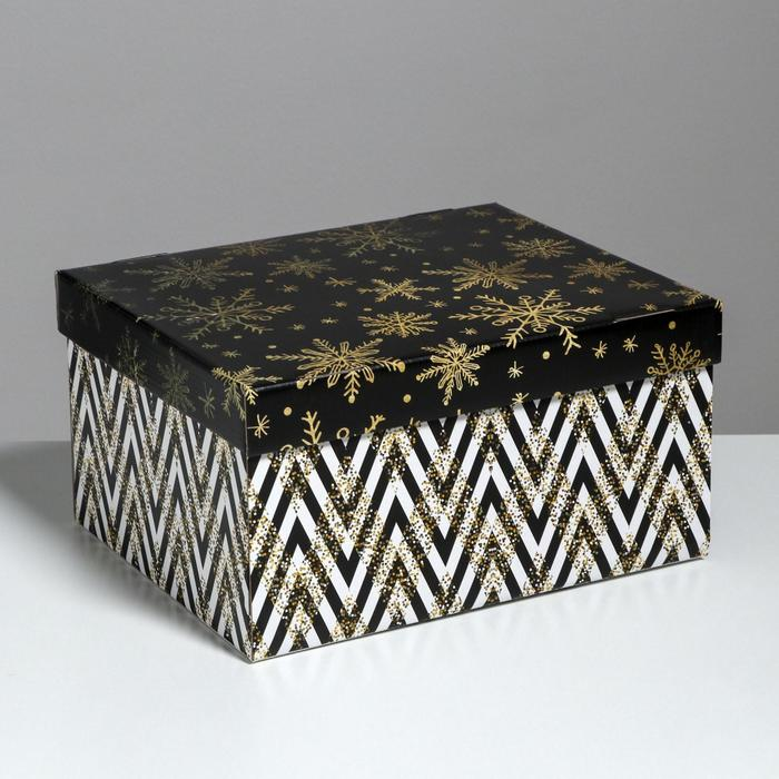 Складная коробка «Золотой праздник», 31,2 х 25,6 х 16,1 см