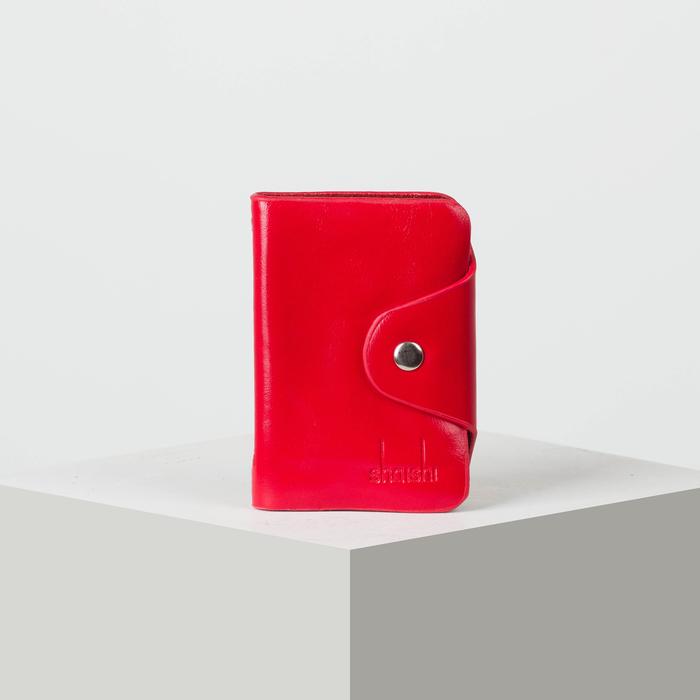 Визитница вертикальная, 1 ряд, 26 листов, цвет красный