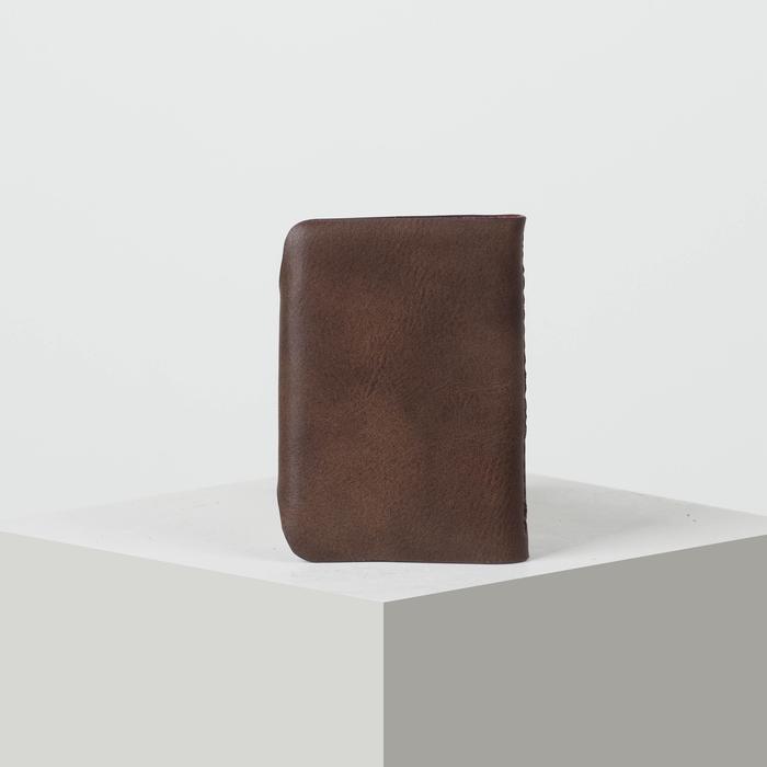 Визитница вертикальная, 1 ряд, 26 листов, цвет коричневый