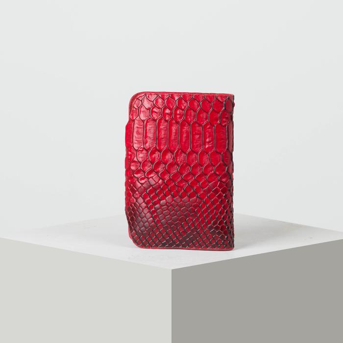 Визитница вертикальная, 1 ряд, 26 листов, змея, цвет красный