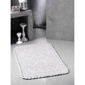 Коврик для ванной кружевной Darin, размер 55х85 см, цвет кремовый