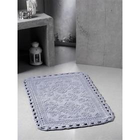 Коврик для ванной кружевной Darin, размер 55х85 см, цвет серый