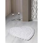 Коврик для ванной кружевной Sisley, размер 60х65 см, кремовый