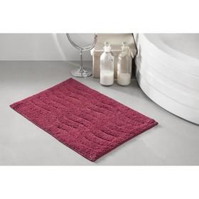 Коврик для ванной Aren, размер 40х60 см, цвет бордовый