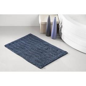 Коврик для ванной Aren, размер 40х60 см, цвет синий