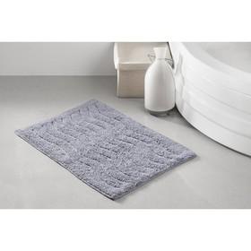 Коврик для ванной Aren, размер 40х60 см, цвет серый