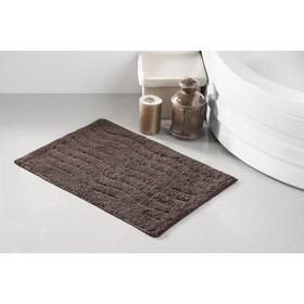 Коврик для ванной Aren, размер 40х60 см, цвет коричневый