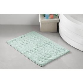 Коврик для ванной Aren, размер 40х60 см, цвет зелёный