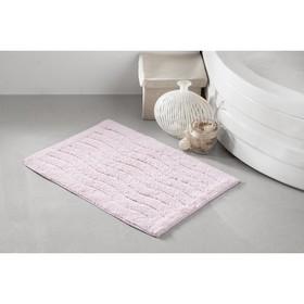 Коврик для ванной Aren, размер 40х60 см, цвет розовый
