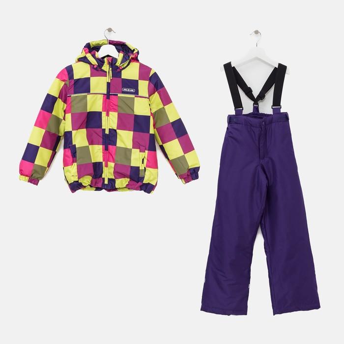 Комплект (куртка и брюки), рост 92 см, цвет фиолетовый - фото 105563819