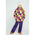 Комплект (куртка и брюки), рост 92 см, цвет фиолетовый - фото 105563822