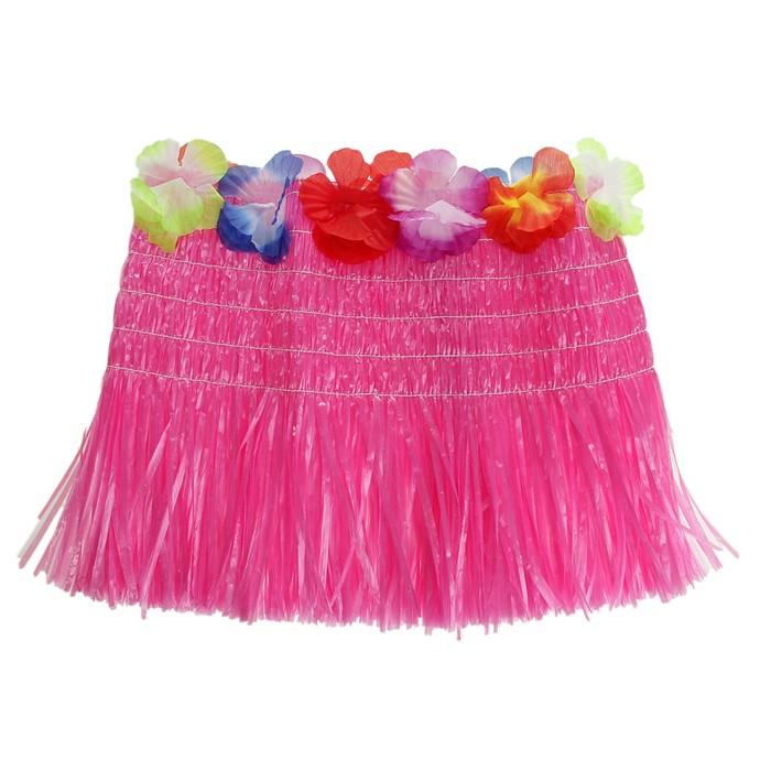 """Топ гавайский """"Тропики"""", розовый, длина топа: 30 см"""