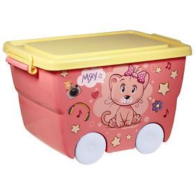 """Ящик для игрушек """"Деко: кошечка"""", 23 л"""