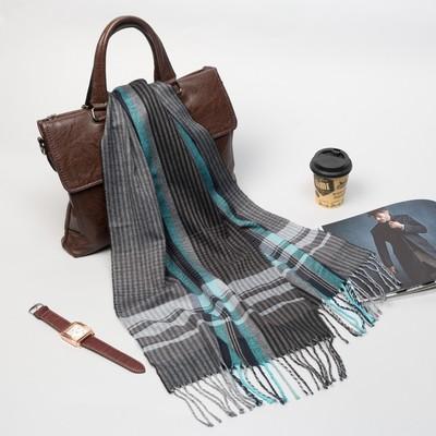 """Палантин мужской Этель """"Леонард"""", размер 30*170 см, цвет серый/брюзовый"""