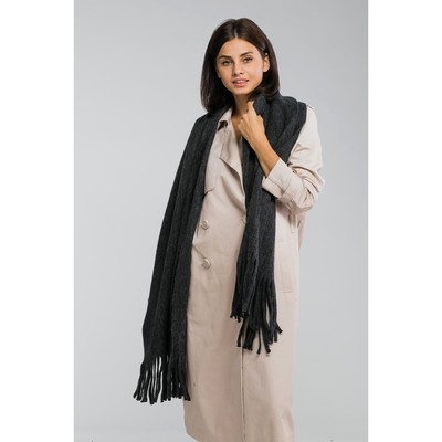 "Tippet women's MINAKU ""Astrid"" size: 45*200 cm, color grey"