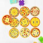 Развивающая игра «Дроби-пицца», круги D= 7 см