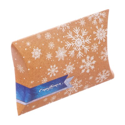 Коробка складная фигурная «С Праздником», 19 × 14 × 4 см