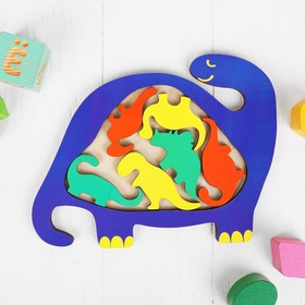 Головоломка «Динозаврик цветной»