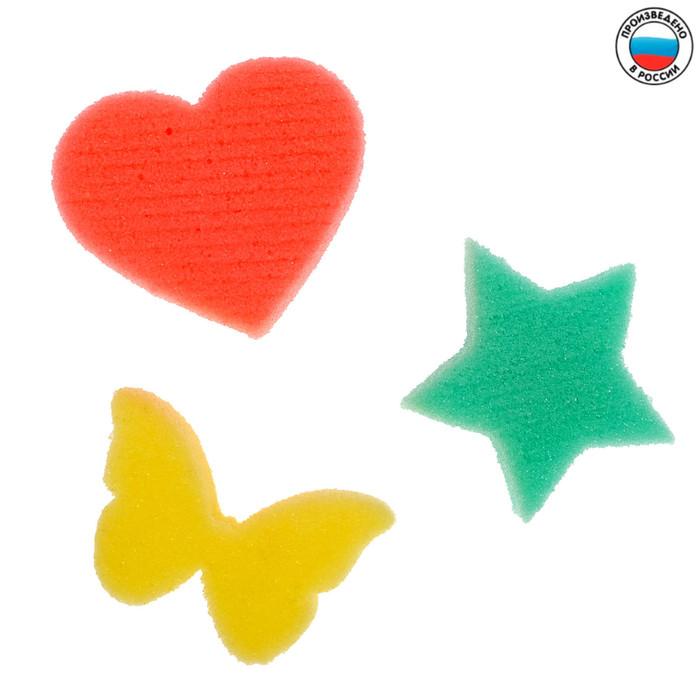 Развивающие детские губки/игрушки, набор 3 шт., МИКС