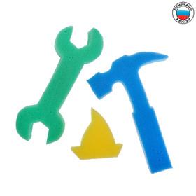 Развивающие детские губки/игрушки «Самоделкин», набор 3 шт., МИКС