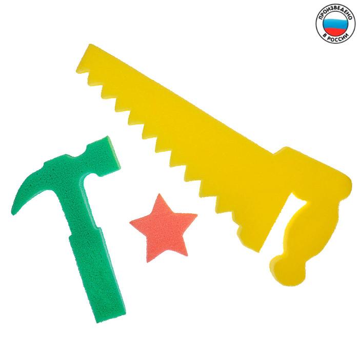 Развивающие детские губки/игрушки «Самоделкин 2», набор 3 шт., МИКС