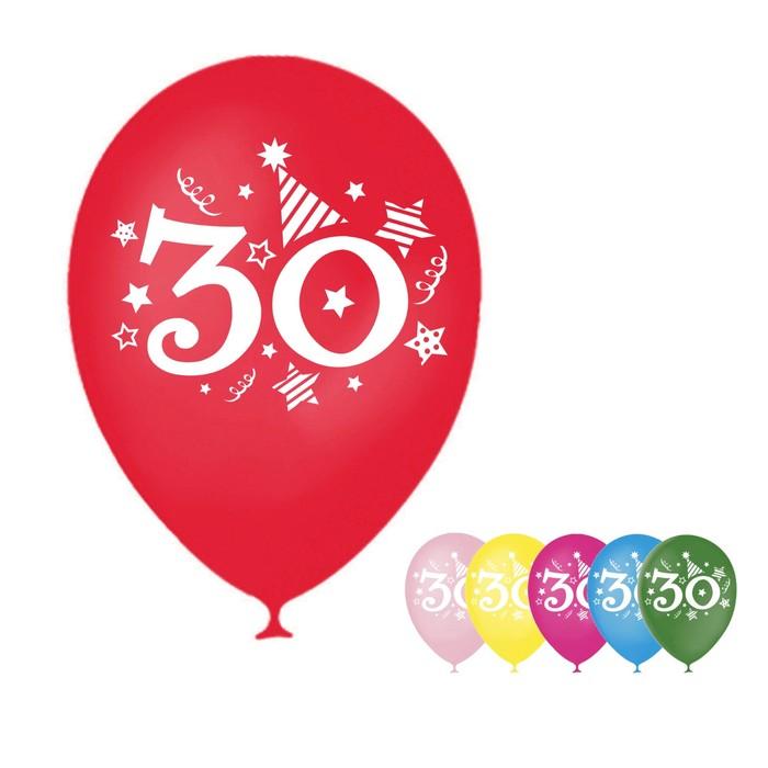 """Шар воздушный """"30 лет"""", 12"""", набор 50 шт. - фото 177867236"""