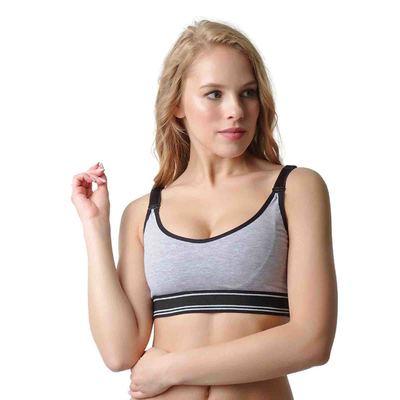 Топ «Бриг» для беременных и кормящих, цвет серый меланж, размер L
