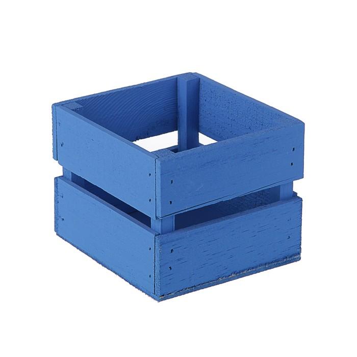 Ящик реечный 11 х 12 х 9 см, морской