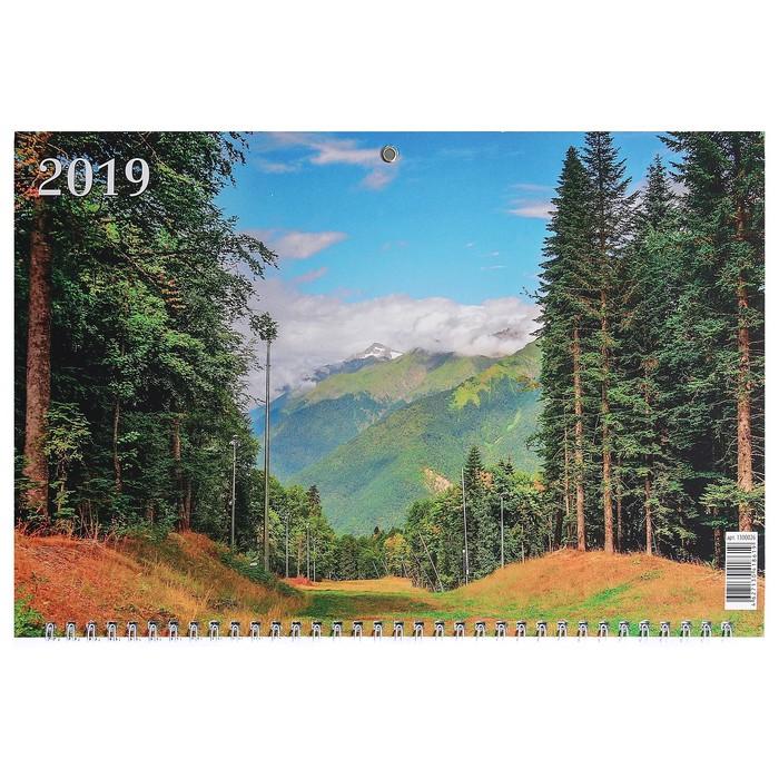 """Календарь квартальный, трио """"Природа - 7"""" 2019 год, 31х69см"""