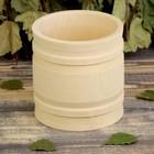 Пивной стакан, сувенирный, точеный 0,5 л, с деревянными обручами